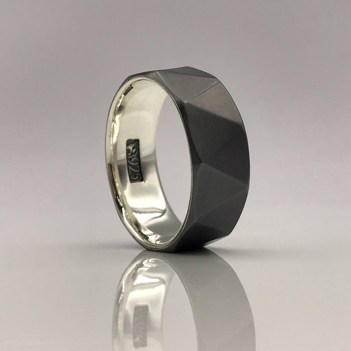 Bermuda -  Faceted Sterling Silver Ring