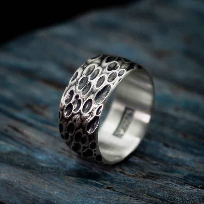 Kraken - Textured Sterling Silver Ring