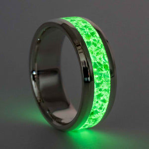 Helios - Sterling Silver and Green Opal Glow Ring