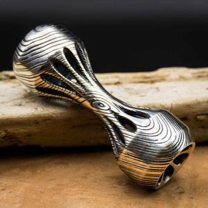 Thumbbell Timber Edition - Polished Sterling Silver Knuckle Roller