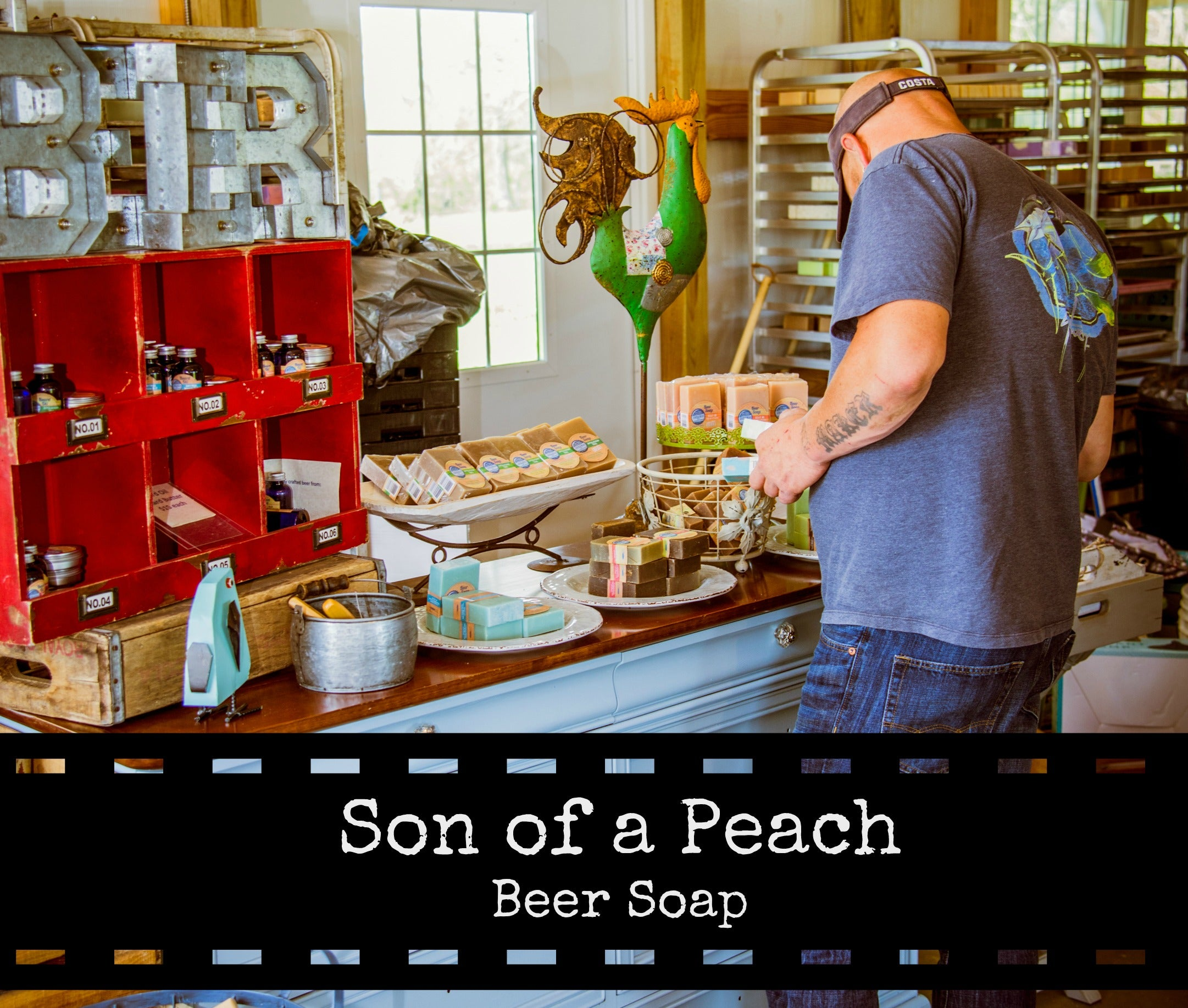 Son of a Peach Handcrafted Beer Soap