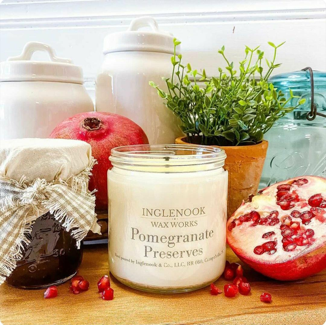 Pomegranate Preserves - Handmade Soy Candle