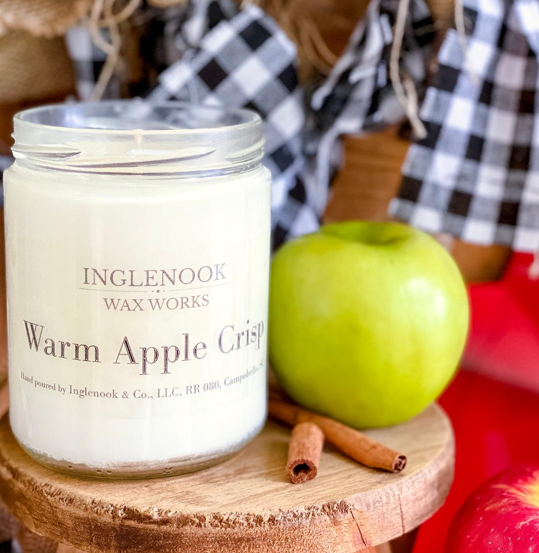 Warm Apple Crisp - Handmade Soy Candle