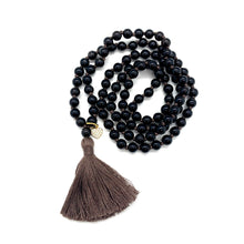Load image into Gallery viewer, Smoky Quartz Charm Tassel Mala for Stress Relief, Deep Healing, & Energy Cleansing