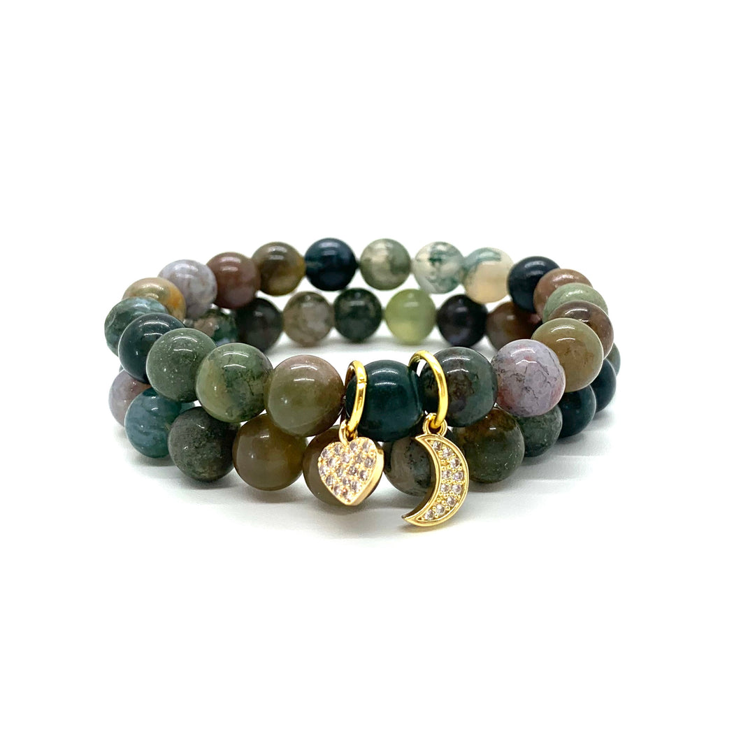 Jade Charm Bracelet Set for Prosperity, Love, & Abundance