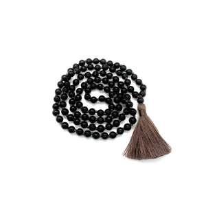 Smoky Quartz Tassel Mala for Stress Relief, Deep Healing, & Energy Cleansing