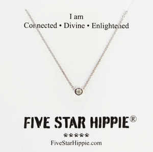 Connect to crown chakra energy for higher consciousness with our diamond energy necklace. Materials include a 16-inch 14k white gold chain with a 3mm brilliant diamond. These necklaces are custom designed and hand assembled in the US. Custom variations are available by Contacting Us.