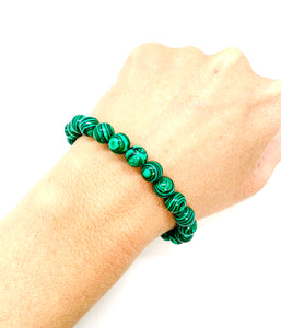 Malachite Bracelet for Commitment & Willpower