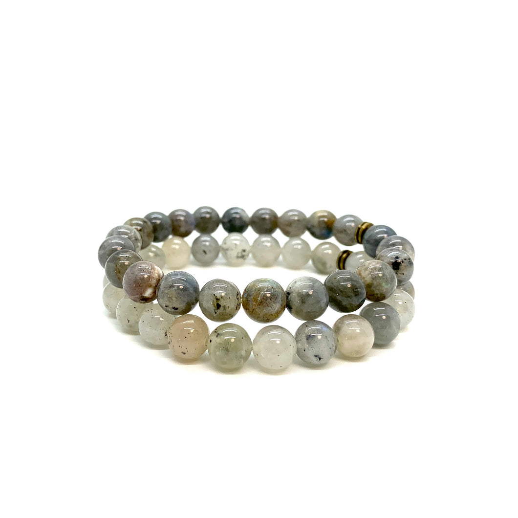 Labradorite Bracelet Set for Presence, Intuition & Wisdom