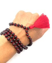 Load image into Gallery viewer, Garnet Tassel Mala for Passion