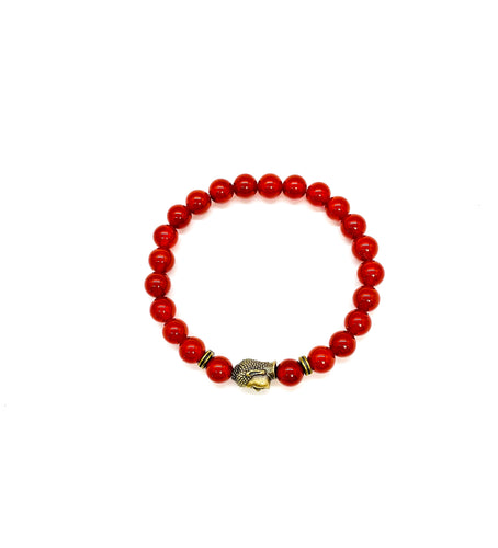 Buddha is a symbol of peace, love & enlightenment. Bracelet materials include 8mm agate stones on an elastic cord with a bronze Buddha. Bracelet measures 7.25 inches for women and 7.75 inches for men. Custom sizing is available by Contacting Us.
