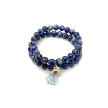 Load image into Gallery viewer, Tassel & Eye Charm Bracelet Set for Protection