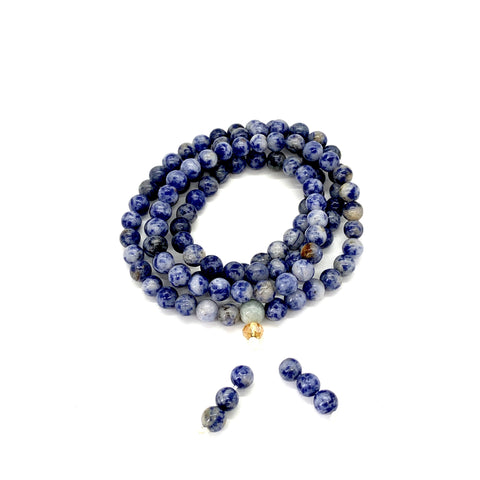 Sodalite Mala for Expression