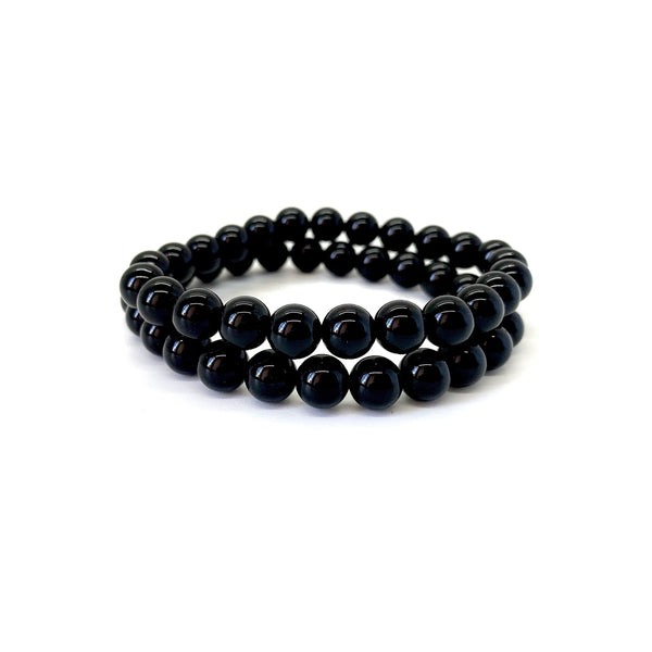 Onyx Bracelet Set for Power-Featured in LA Yoga Magazine