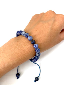 Sodalite Adjustable Macrame Bracelet