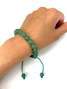 Green Aventurine Adjustable Macrame Bracelet