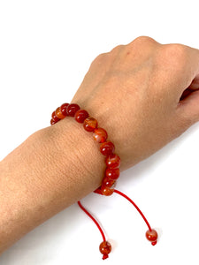 Carnelian Adjustable Macrame Bracelet