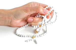 Howlite Mala for Awareness