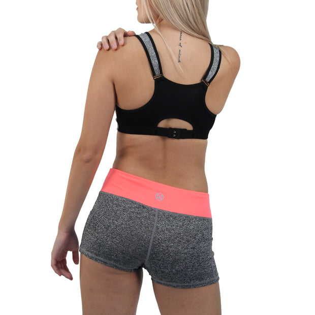 Push Yourself Zipper Pushup Sports Bra