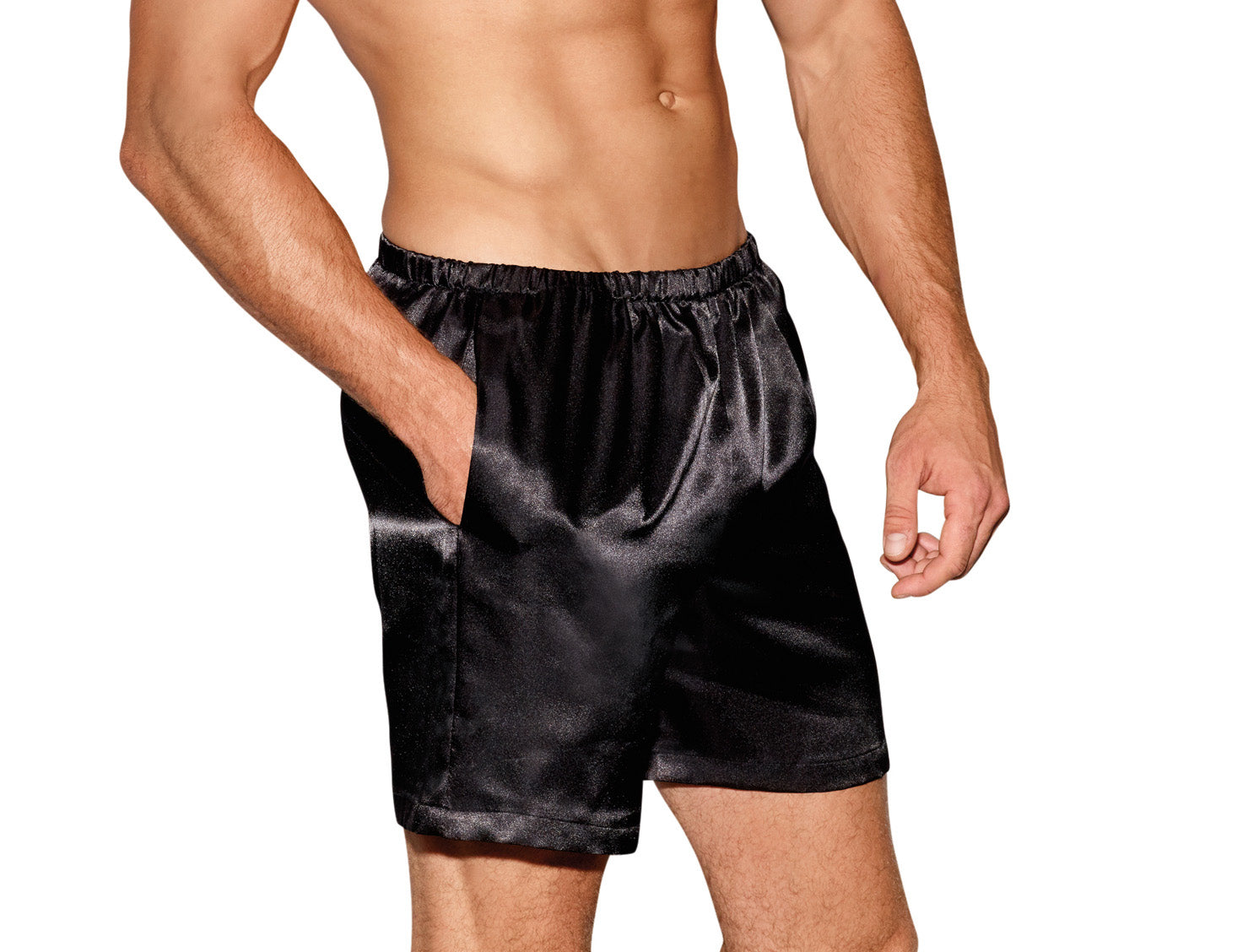 Mens Boxer Short Black (N)