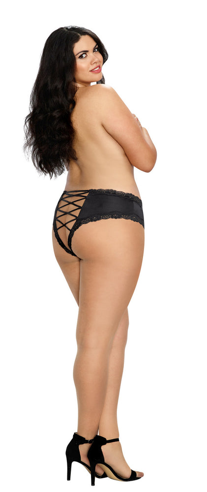 Cheeky Panty With Criss Cross Back Black