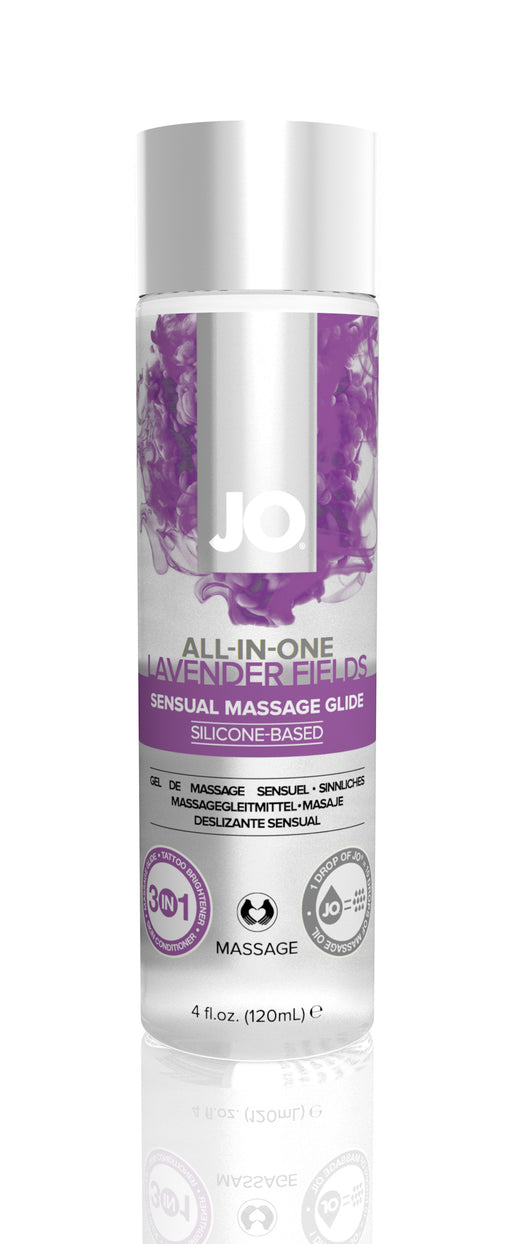 JO Massage Glide Lavendar 4 Oz / 120 ml