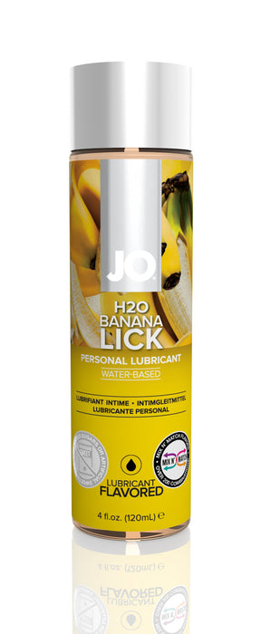 JO H2O Flavored Banana Lick 4 Oz / 120 ml