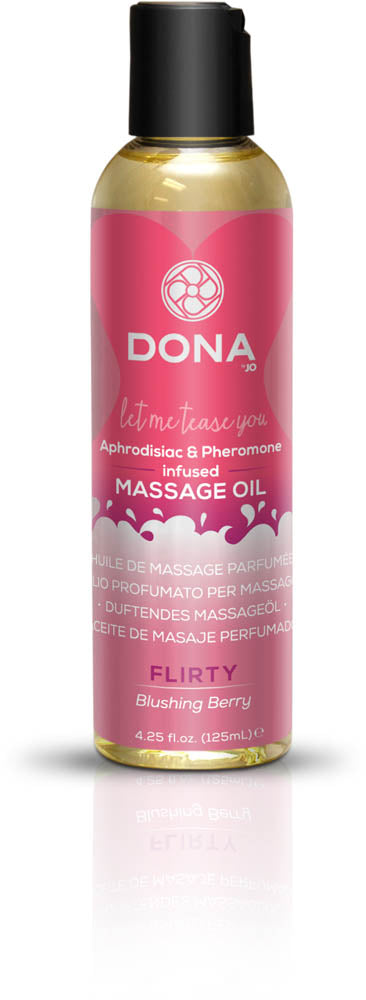 Dona Scented Massage Oil Flirty Aroma: Blushing Berry 4oz  (T)