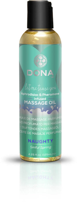 Dona Scented Massage Oil Naughty Aroma: Sinful Spring 4oz