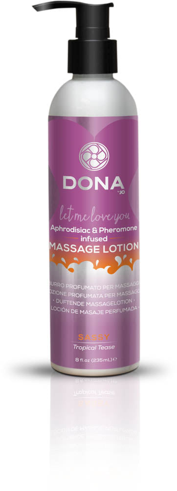 Dona Massage Lotion Sassy Aroma: Tropical Tease 8oz