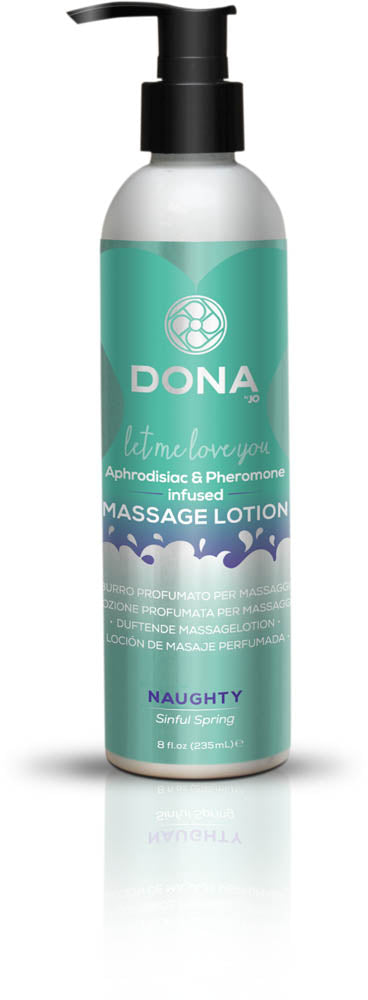 Dona Massage Lotion Naughty Aroma: Sinful Spring 8oz  (T)