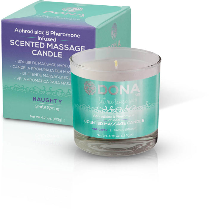 Dona Scented Massage Candle Naughty Aroma: Sinful Spring 4.75oz