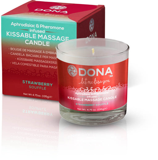 Dona Kissable Massage Candle Strawberry Soufle 4.75oz