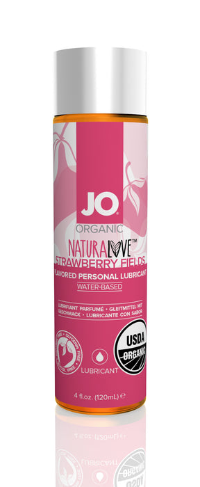 JO USDA Organic Lubricant Strawberry Fields 4 Oz / 120 ml