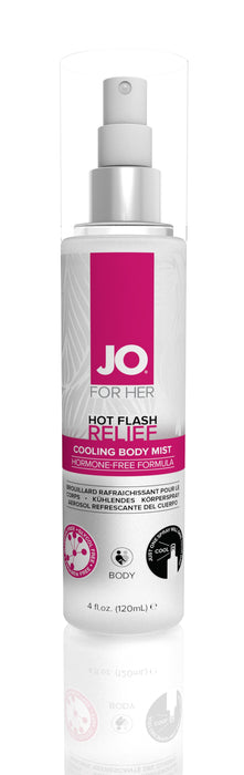 JO Hot Flash Relief Spray Cooling Body Mist 4 Oz / 120 ml (D)