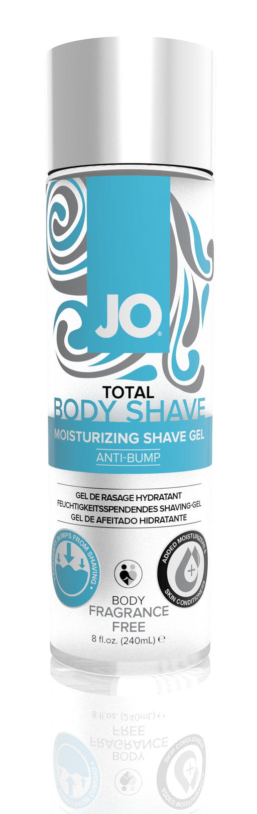 JO Total Body Anti-Bump Shaving Gel Fragrance Free 8 Oz / 240 ml