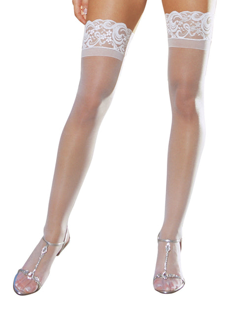 CSO Sheer Thigh High W Lace Top