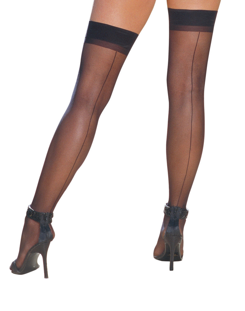 Sheer Thigh High W/ Seam
