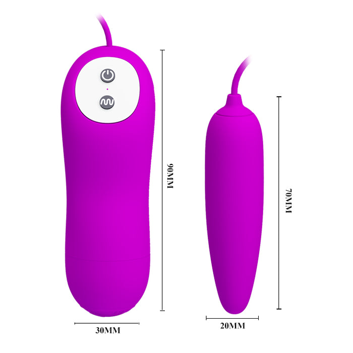 "Vibrating Egg ""Harriet"" Purple"