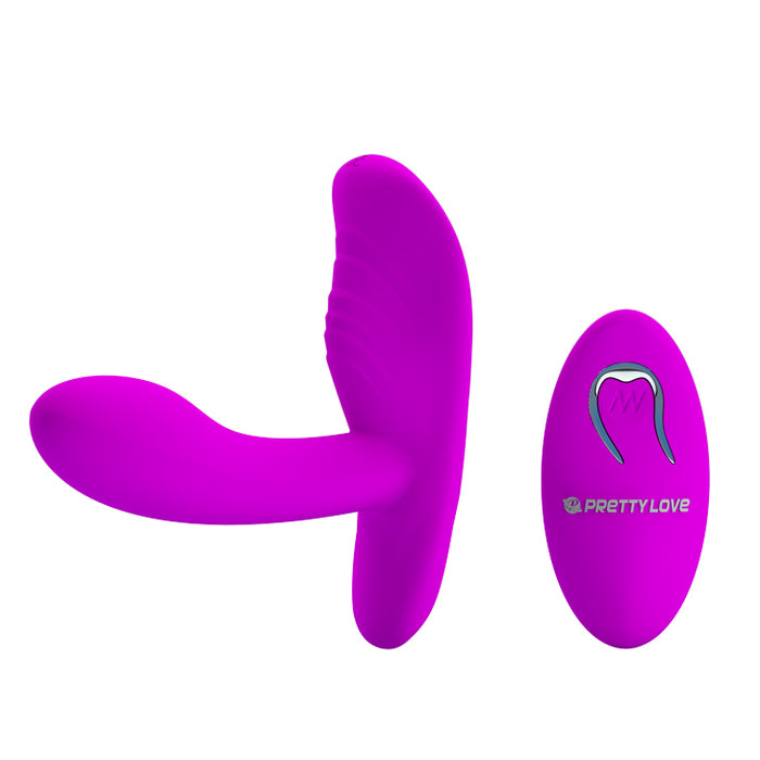 "Vibrator & Remote Stimulator ""Magic Fingers"" Purple"