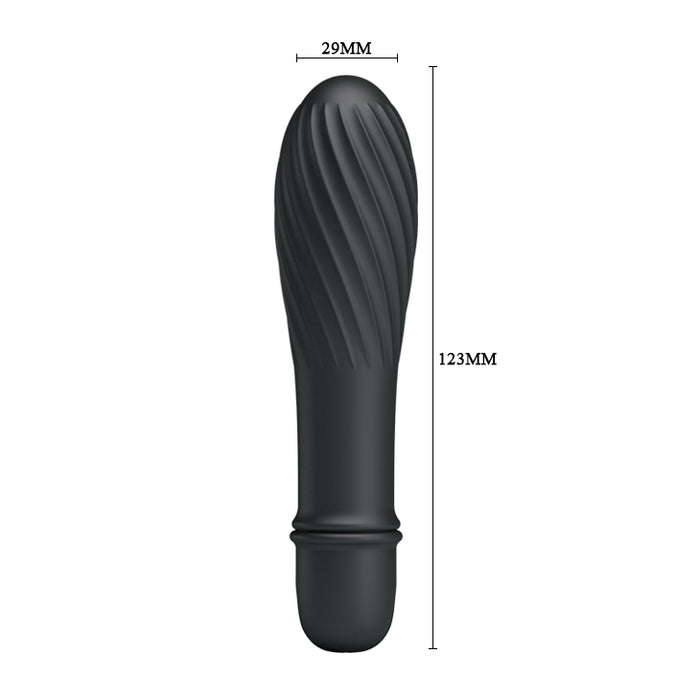 "Battery G-Spot Vibrator Black 137mm ""Solomon"""