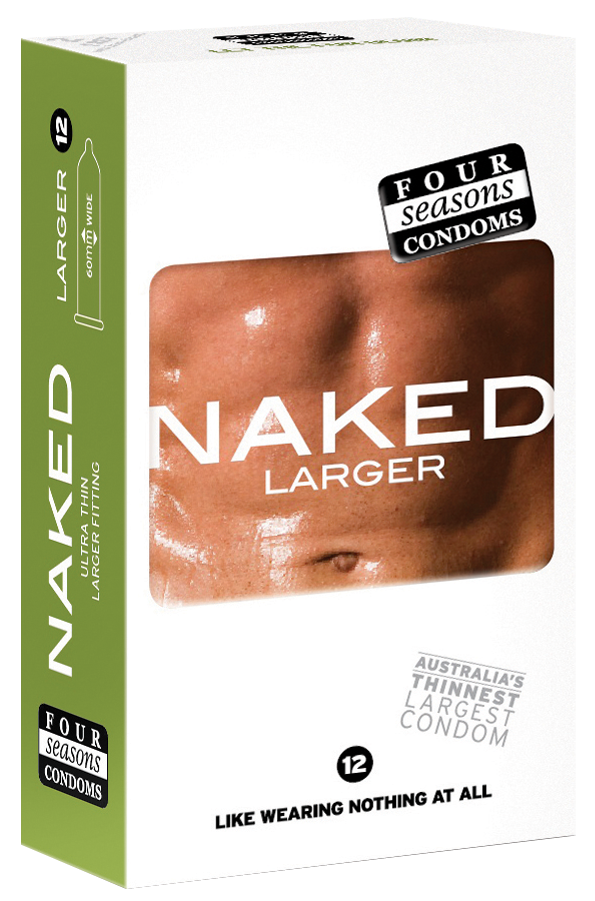 Condom Ultra Thin 12pk Naked Larger 60mm