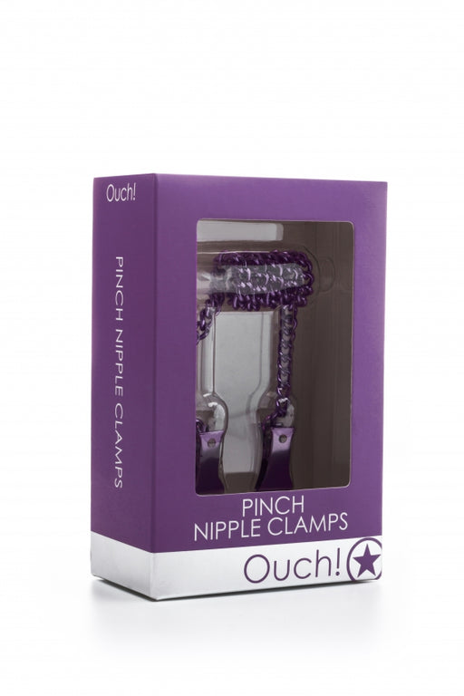 Pinch Nipple Clamps - Purple