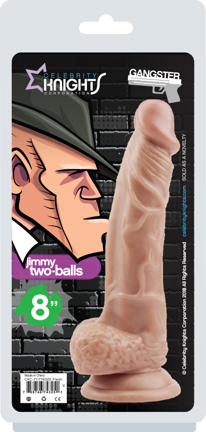 "Gangster Dong (Jimmy Two-Balls) 8"" Flesh"