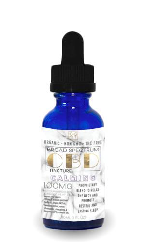 Broad Spectrum Calming Blend Tincture - GG MT CBD