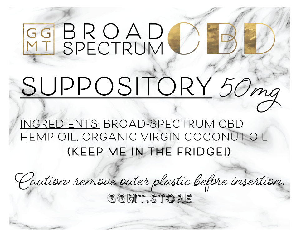Broad Spectrum Suppository - GG MT CBD