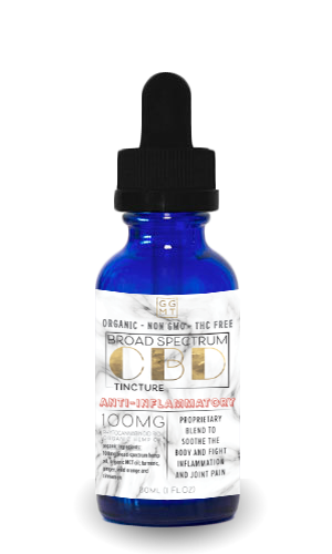 Broad Spectrum Anti Inflammatory Blend Tincture - GG MT CBD