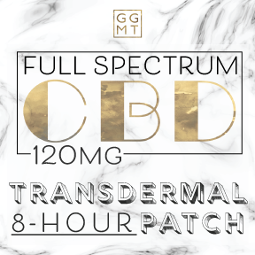 Full Spectrum Transdermal Skin Patch - 8 hour extended release - GG MT CBD
