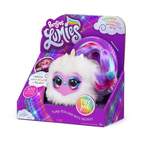 Pomsies Lumies Rainbow Charged Interactive Pet Dazzle