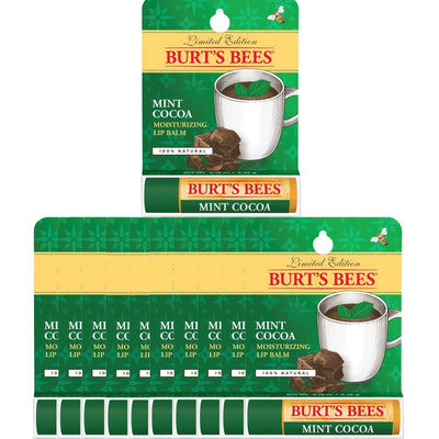 12-Pack Burt's Bees Lip Balm Mint Cocoa 0.15 oz